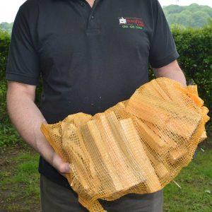 Kindling in a handy net bag